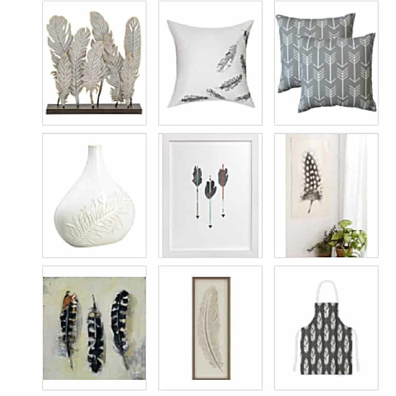25+ Feather Accents for Your Home