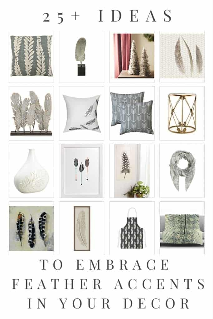 feather decor accents