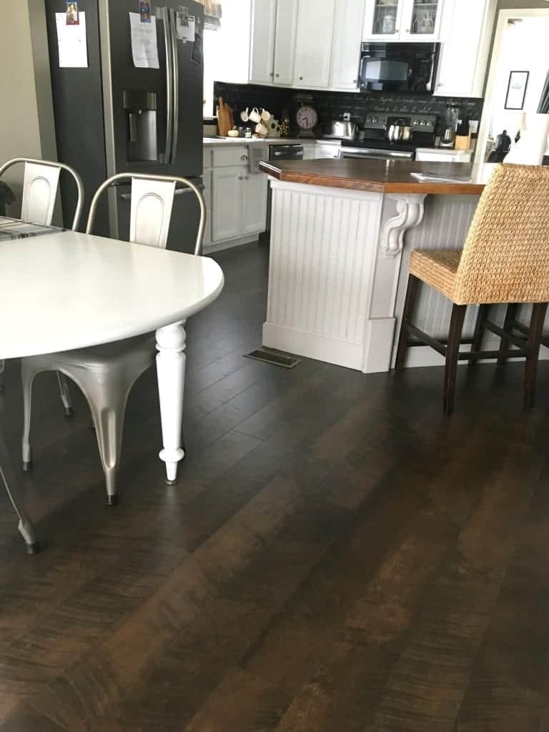Laminate Flooring In Kitchen And Dining Room