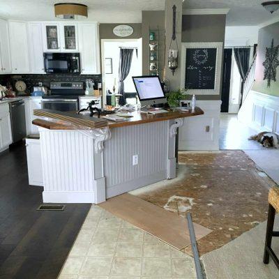 Diy Beadboard Kitchen Island With Corbels