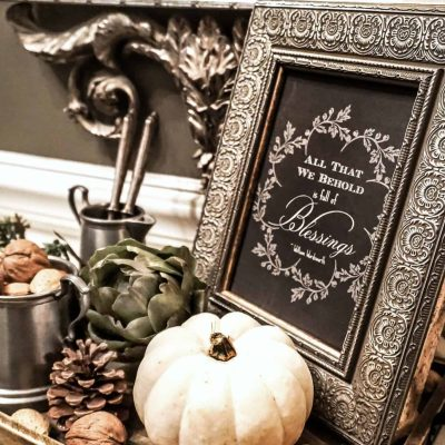 A Pretty Fall Foyer Vignette