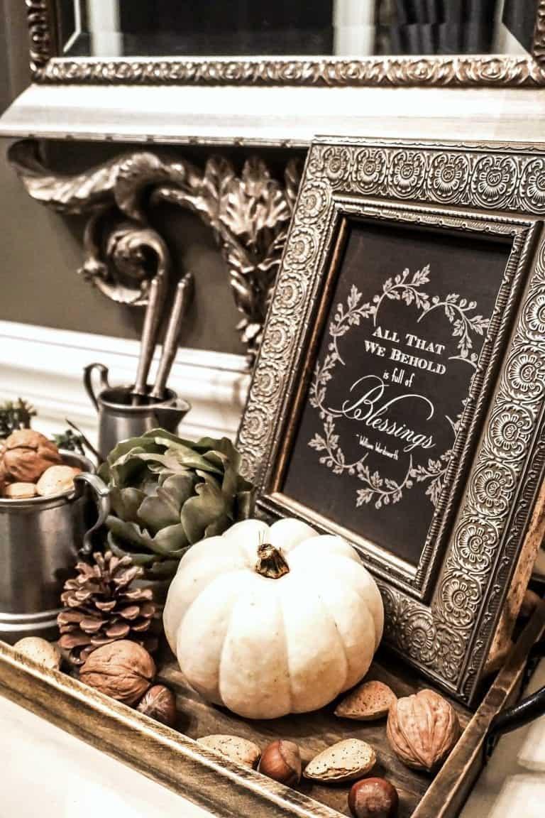 A Pretty Fall Foyer Vignette