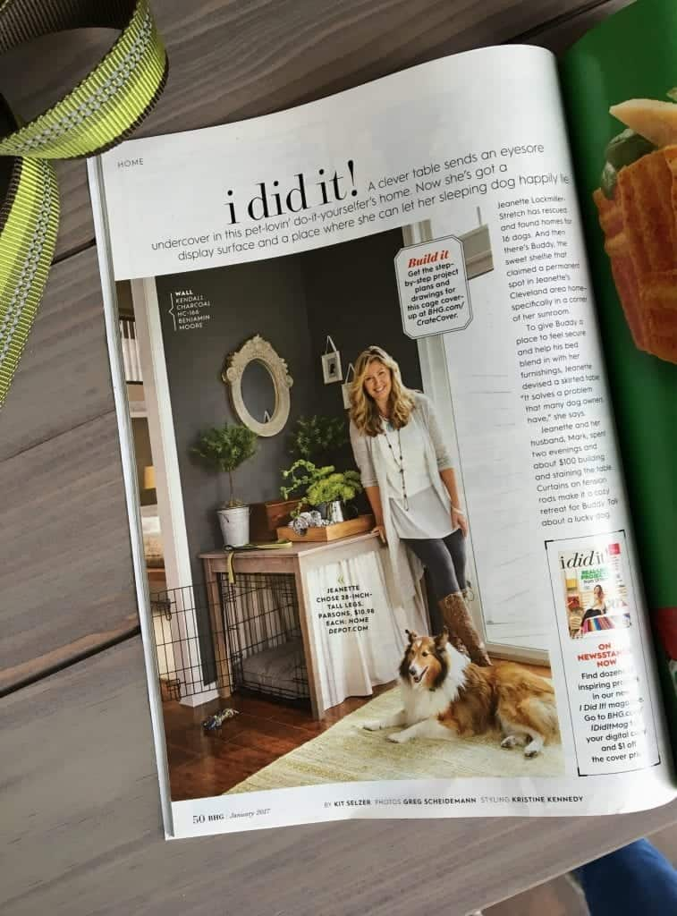 Better Homes and Gardens I Did It January 2017 article