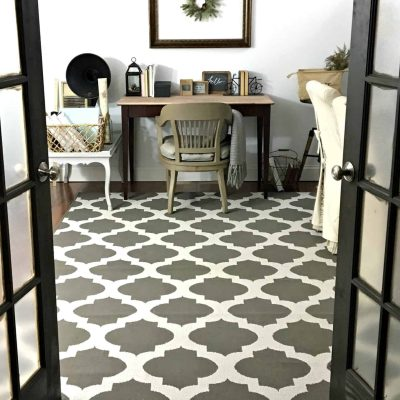 French Doors leading into craft room
