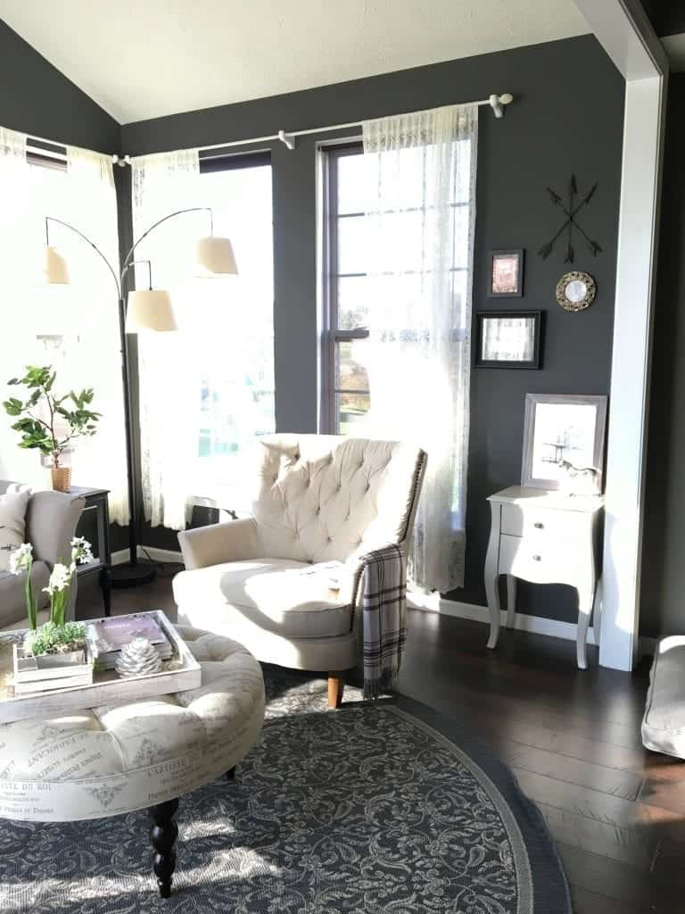 Sunroom with Kendall Charcoal paint
