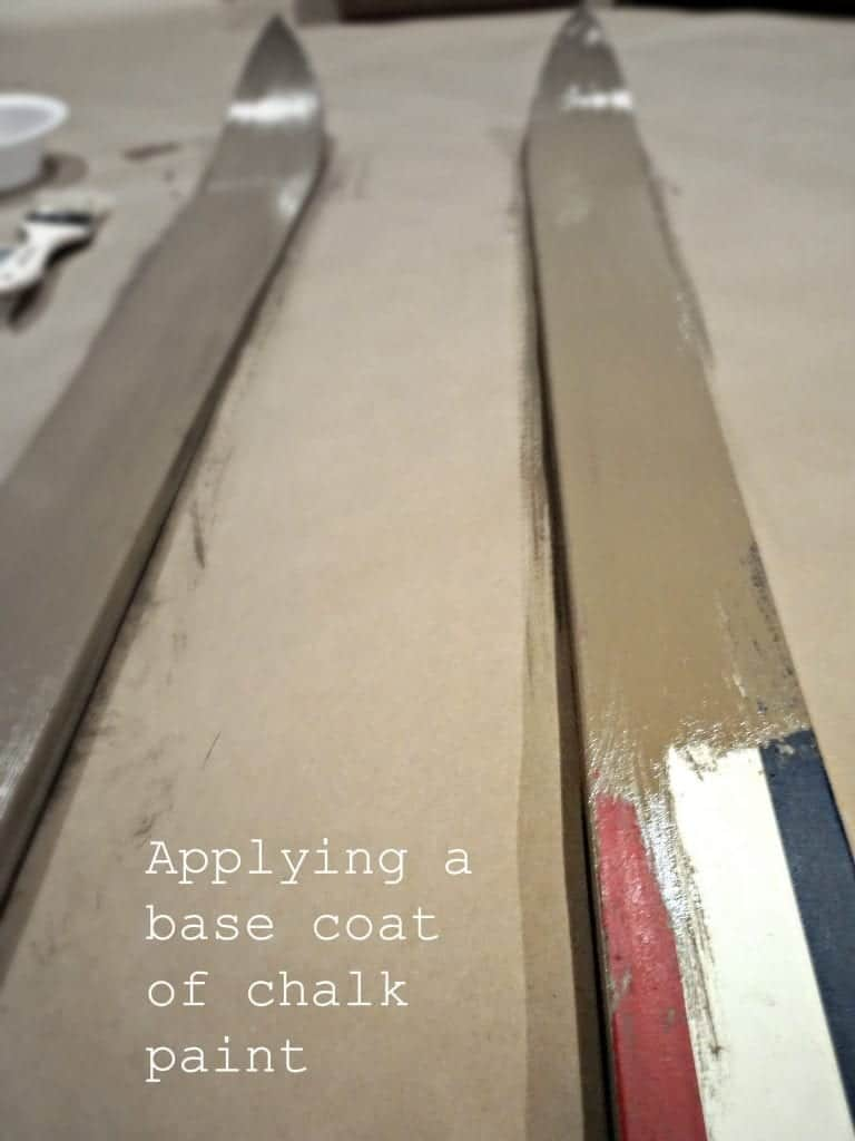 How to paint wood and get the best possible finish - Diy Faux Wood Skis Applying A Base Coat