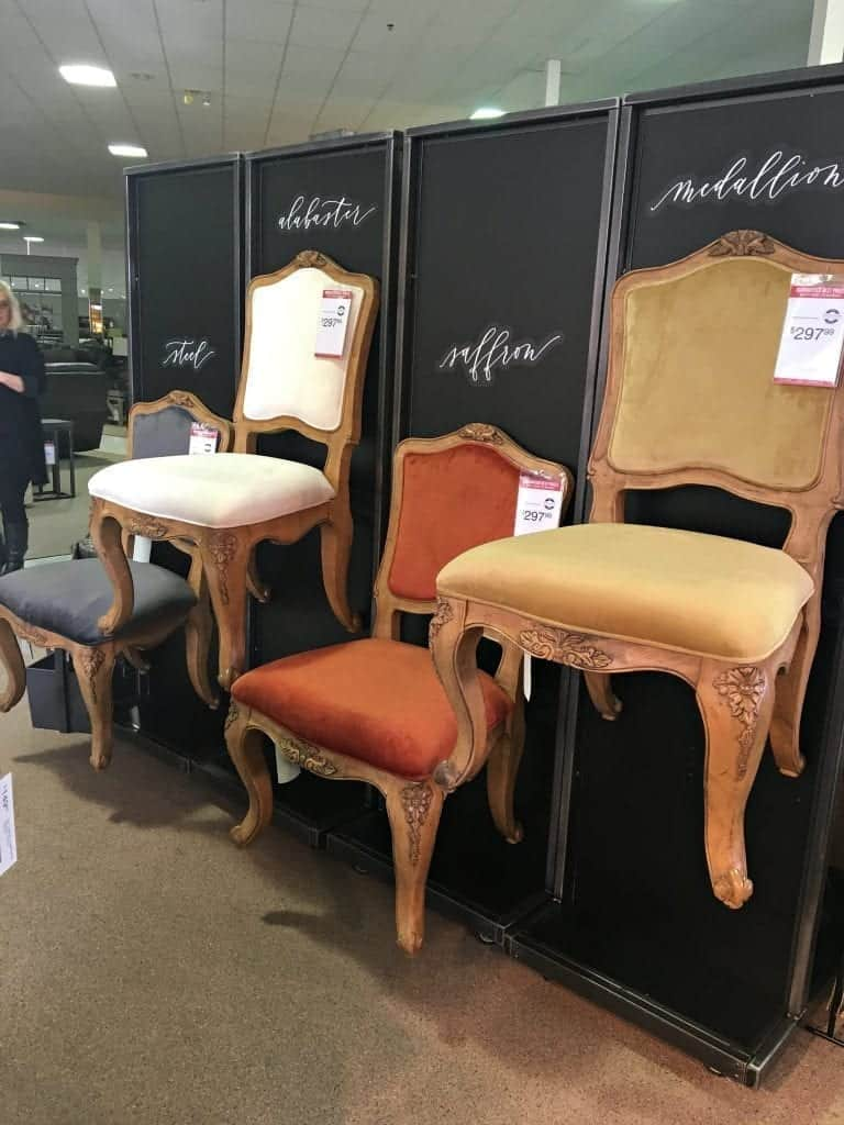 Chair Display Joanna Gaines Furniture