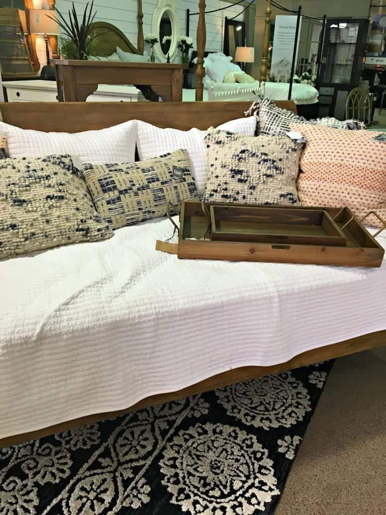 Daybed and pillows Joanna Gaines Furniture