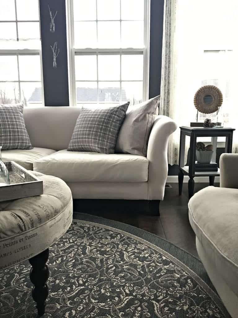 Slipcover Couch without Cover New Pillows
