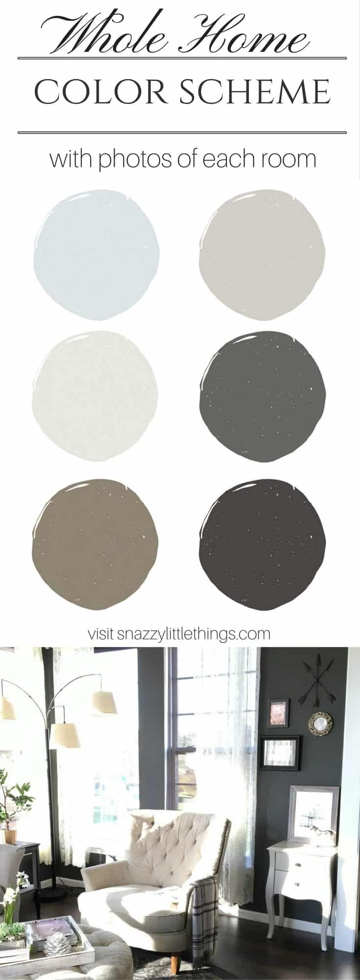 Whole Home Color Scheme by SnazzyLittleThings.com