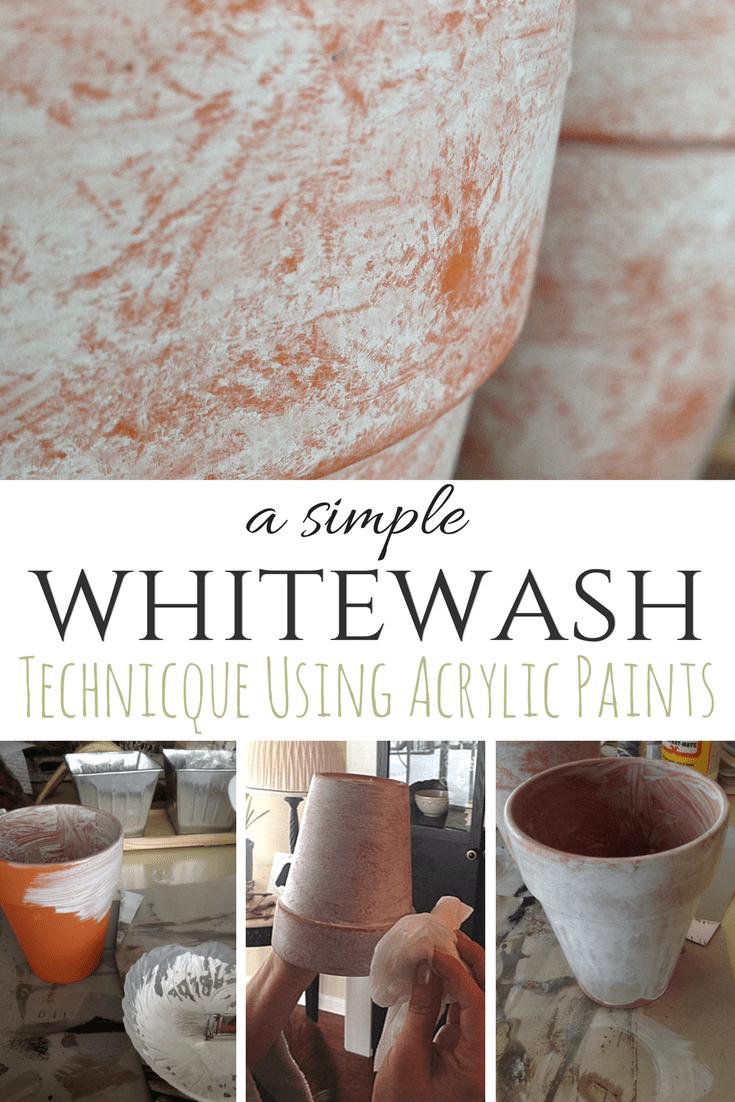 A Simple Whitewash Paint Technique Using Acrylic Paint