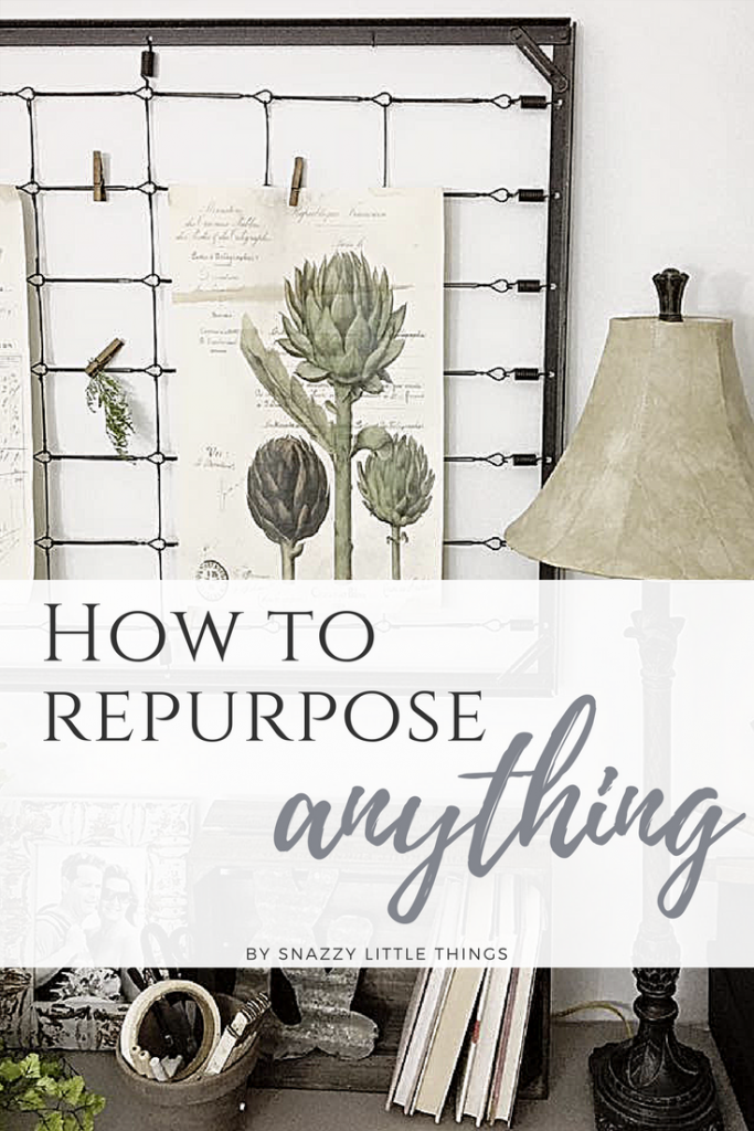 How To Repurpose Anything, a simple checklist to find the perfect items for your home. By Snazzy Little Things.