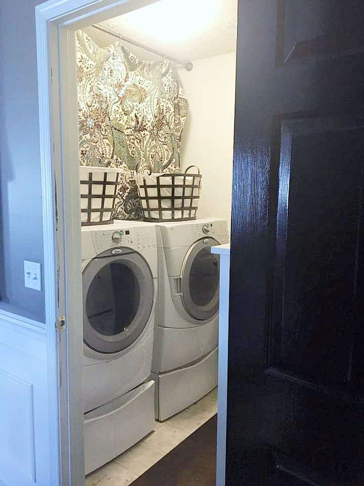 Tiny Laundry Room Ideas BEFORE photo of washer and dryer