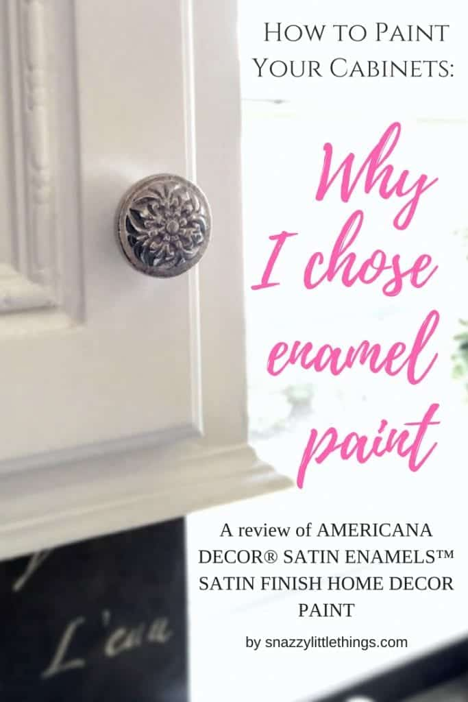 Painting kitchen cabinets, enamel paint, water based enamel