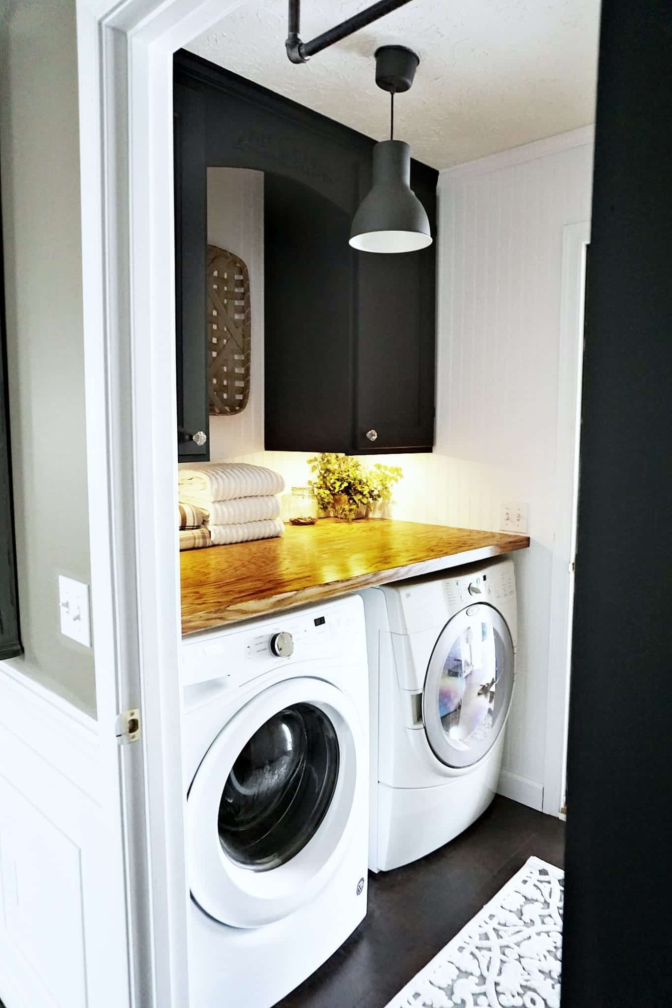 Industrial Farmhouse Laundry Room Makeover