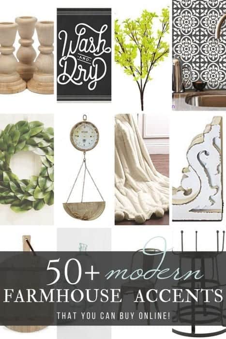 50+ Modern Farmhouse Accents bloggers love by Snazzy Little Things