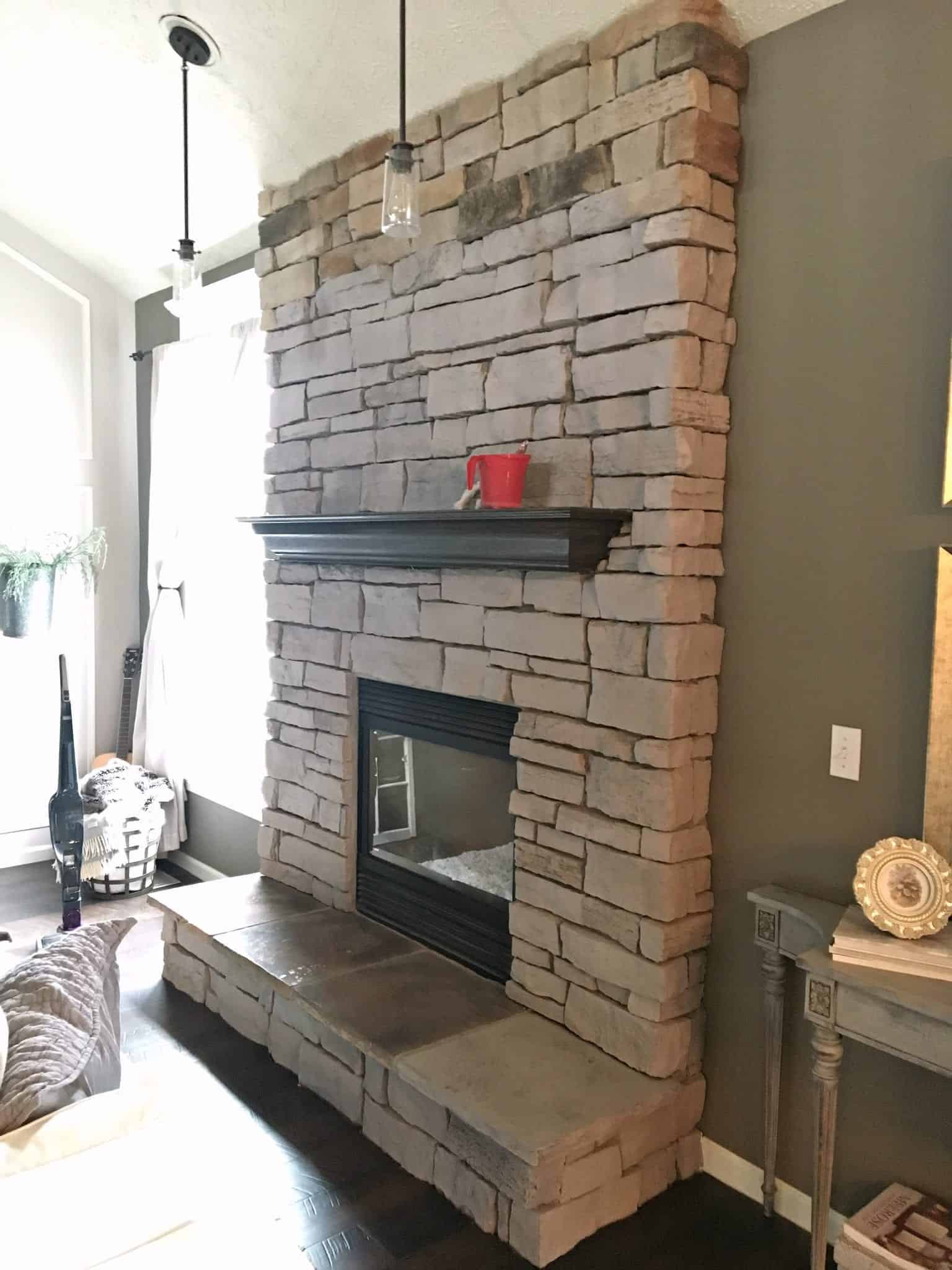 Why I M Painting Our Stone Fireplace Snazzy Little Things