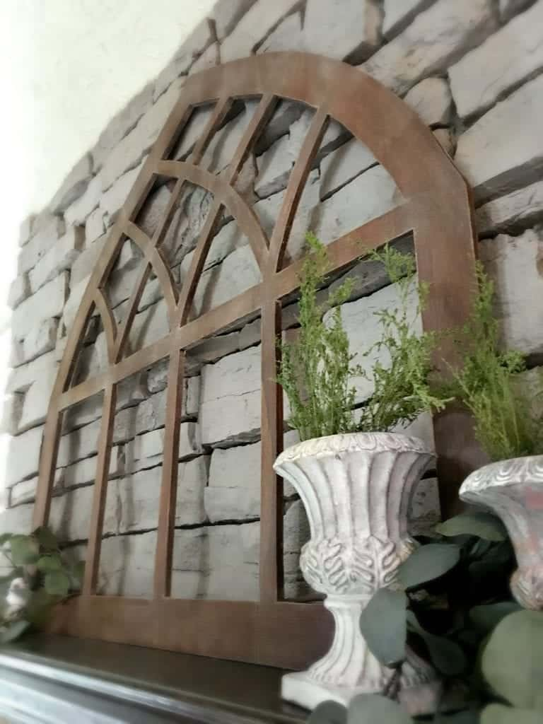 diy-cathedral-window-frame-fixer-upper with urns