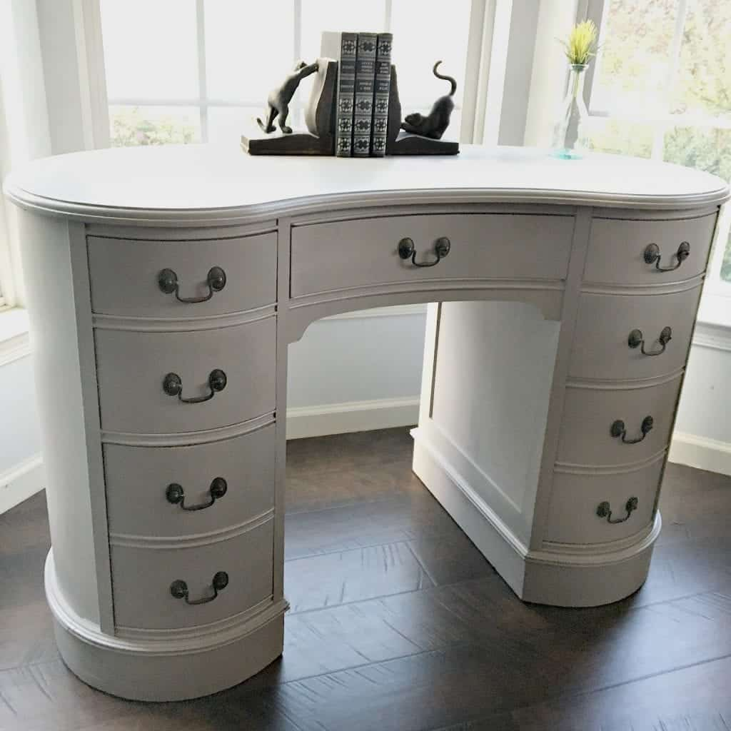 - Antique Kidney Desk Makeover