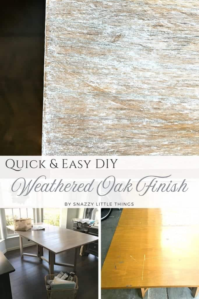 Quick and Easy Weathered Oak Finish Using Annie Sloan products - by Snazzy Little Things