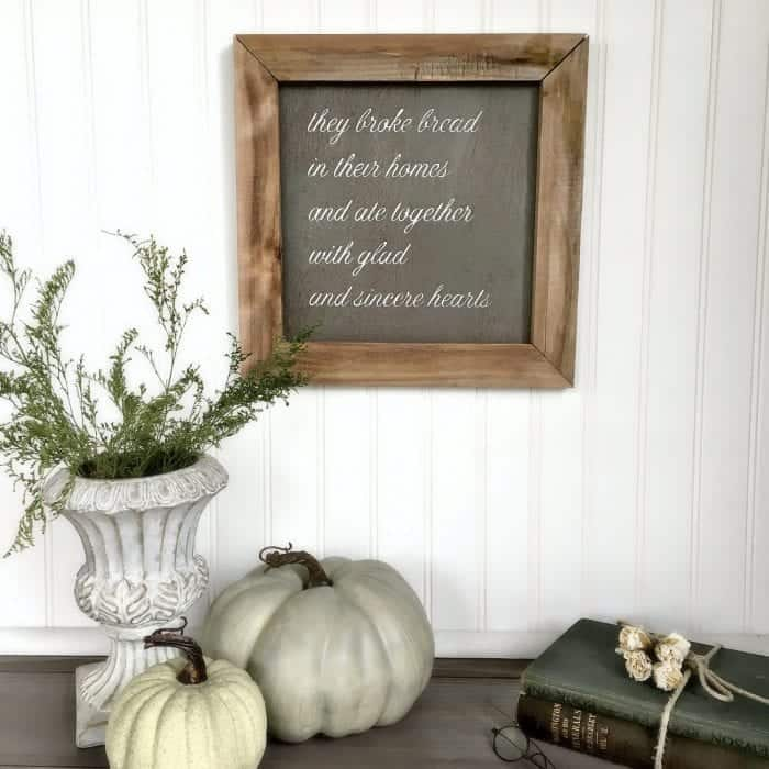 Silhouette Cameo Rustic Sign Tutorial with wood frame