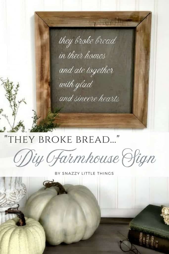 Silhouette Cameo Rustic Sign Tutorial They Broke Bread Wooden Farmhouse Sign