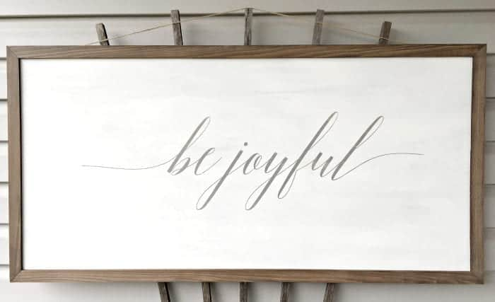 Be Joyful Farmhouse Sign 2x4