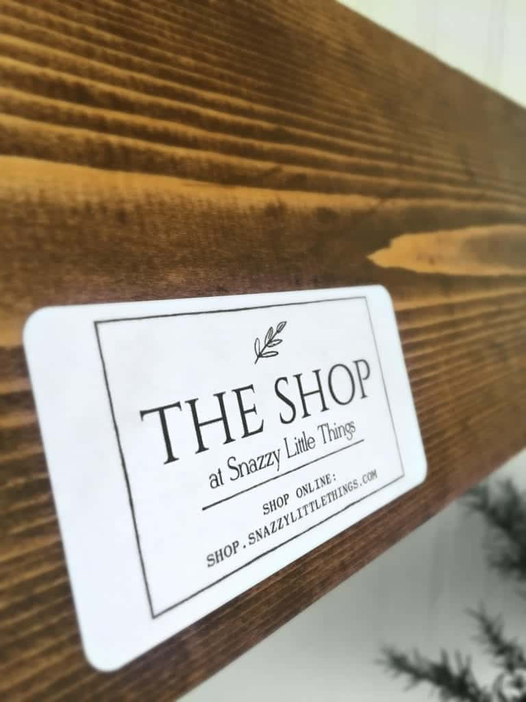 Labels on products handmade by snazzy little things
