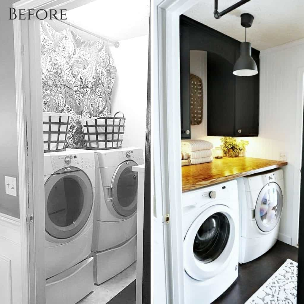 Before & After Laundry Room