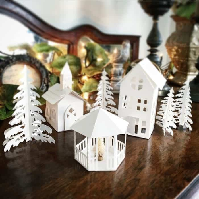 DIY Christmas Village by Snazzy Little Things