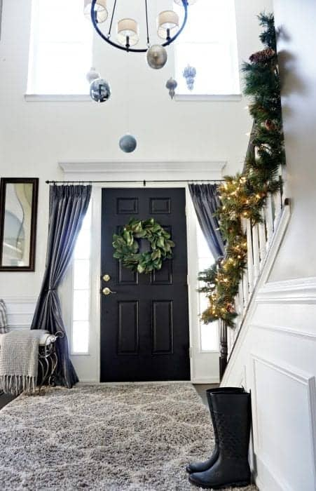 Modern Farmhouse Holiday Home Tour 2017 View of Front Door