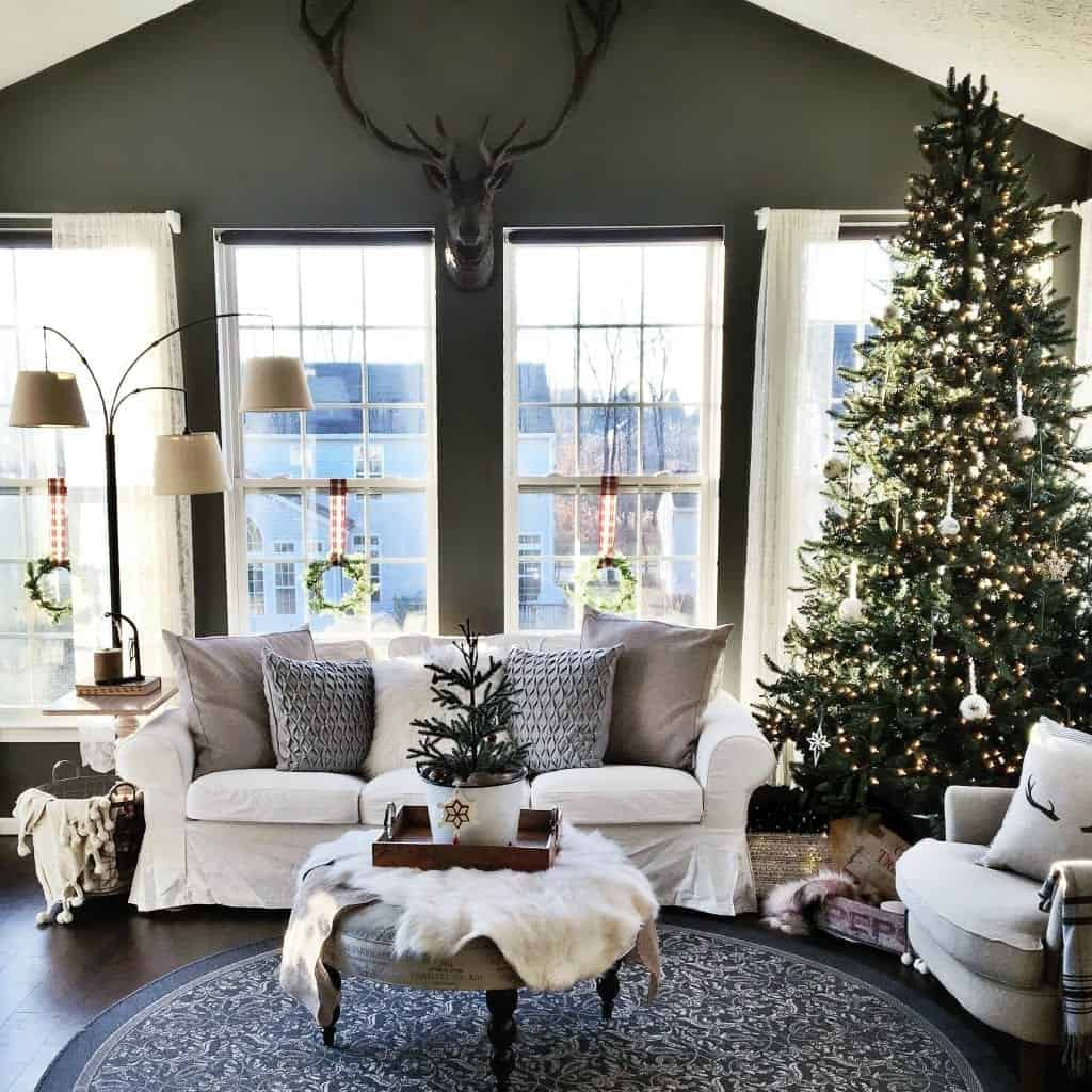 Modern Rustic Holiday Home Tour 2017 Full Sunroom View
