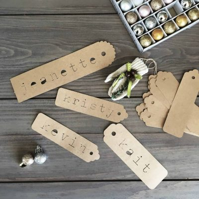 "Easy ""Vintage"" Gift Tags"