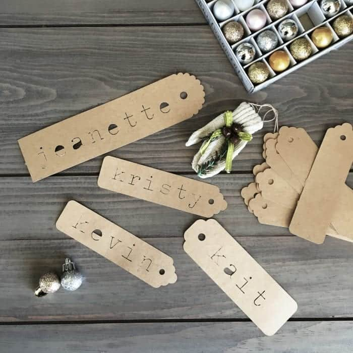 Modern Rustic Holiday Home Tour 2017 Gift Tags Made with Silhouette Cameo