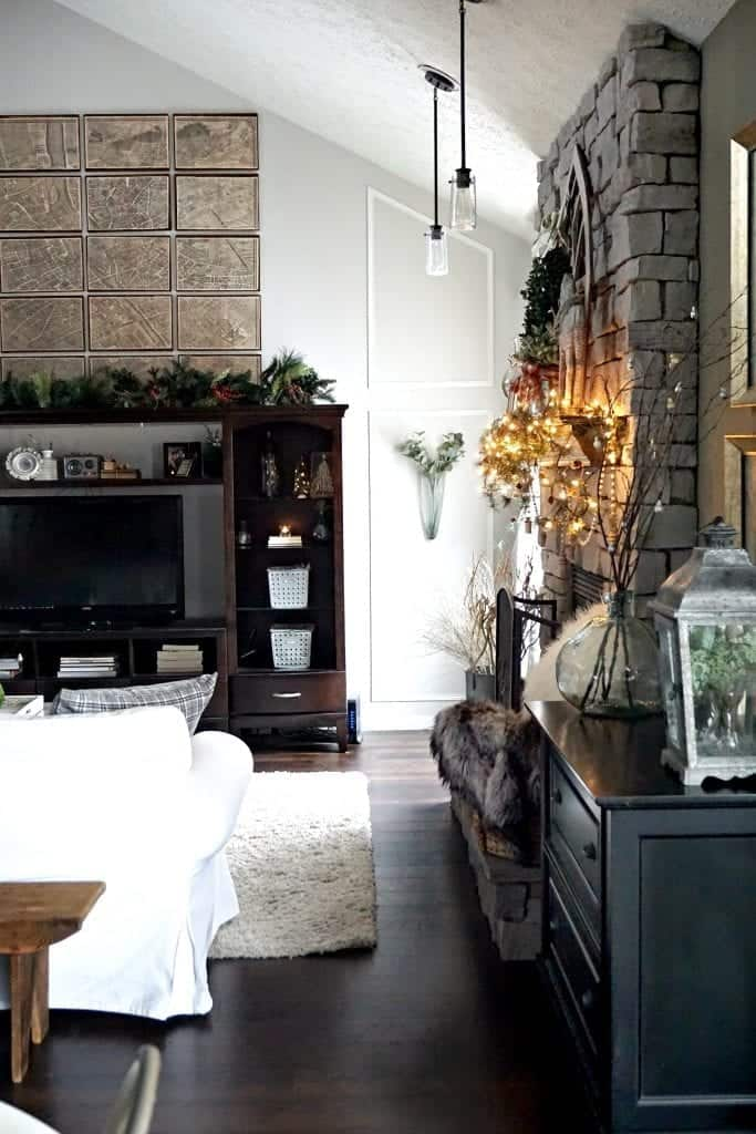 Modern Rustic Holiday Home Tour 2017 Right View of Paris Map