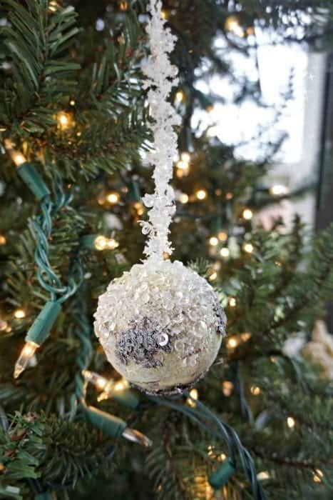 Modern Rustic Holiday Home Tour 2017 Small Natural Ornament
