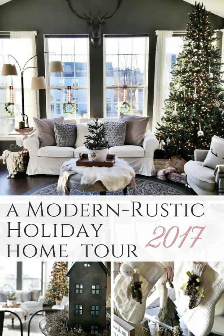 Modern Rustic Holiday Home Tour 2017 by Snazzy Little Things (1)