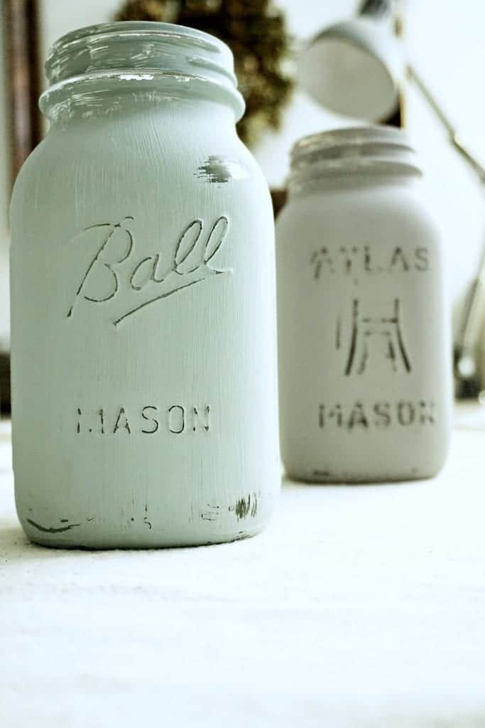 Chalk Painted Mason Jars by Snazzy Little Things