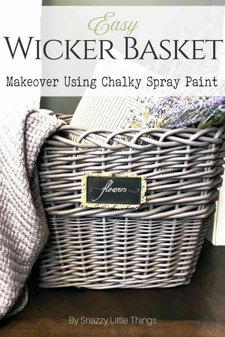 Easy Wicker Basket Makeover | snazzy little things
