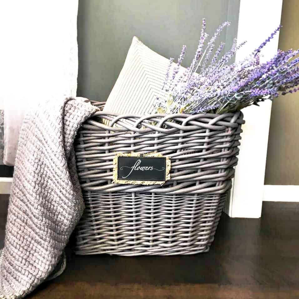 Wicker Basket Makeover with Chalk Paint After Photo