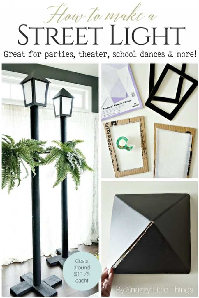Diy Street Light For Parties Under 11 75 Each Snazzy