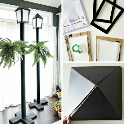 DIY Street Light for Parties (under $11.75 each!)