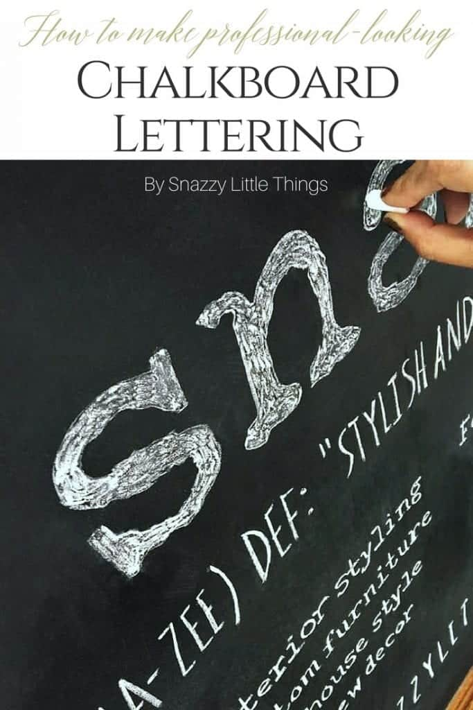 DIY Chalkboard Lettering Tutorial by Snazzy Little Things