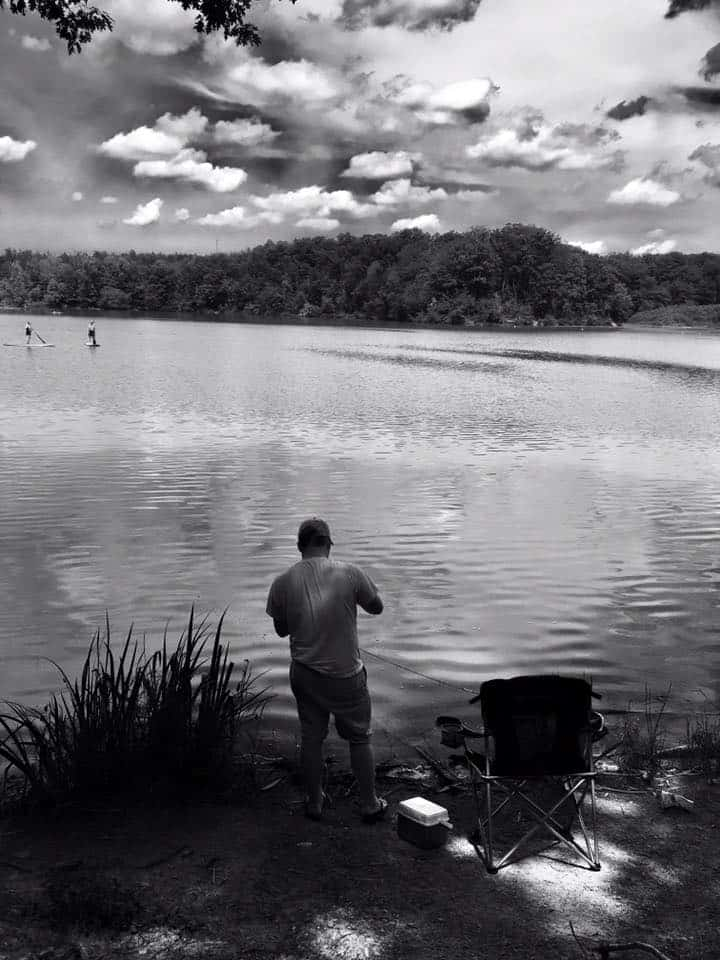Hinckley Lake Ohio Ethan Fishing July 2017