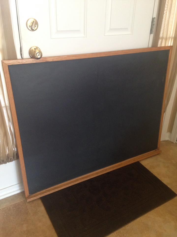 DIY Chalk Lettering vintage chalkboard