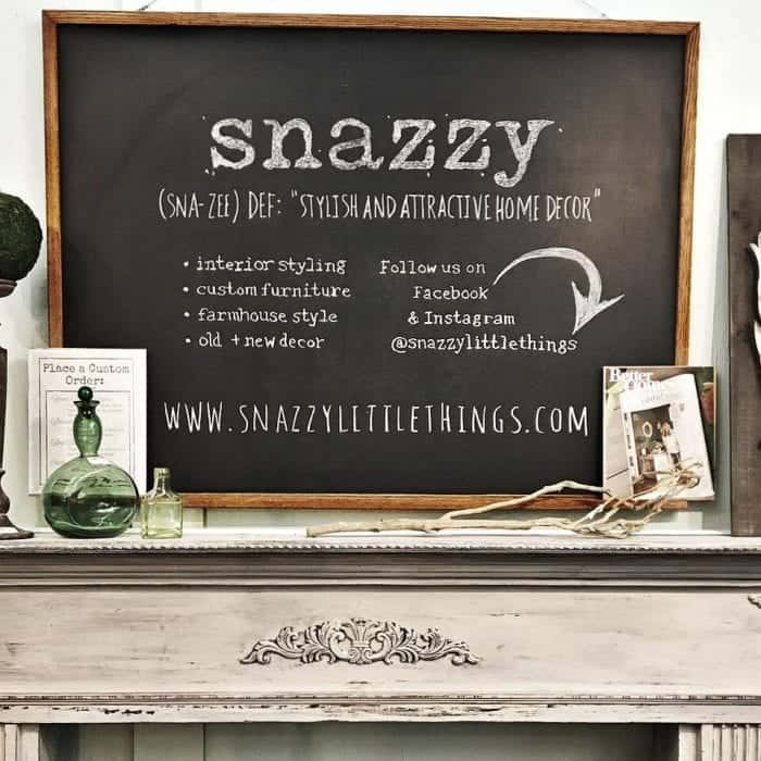 Store Tour of Snazzy Little Things Chalkboard Sign
