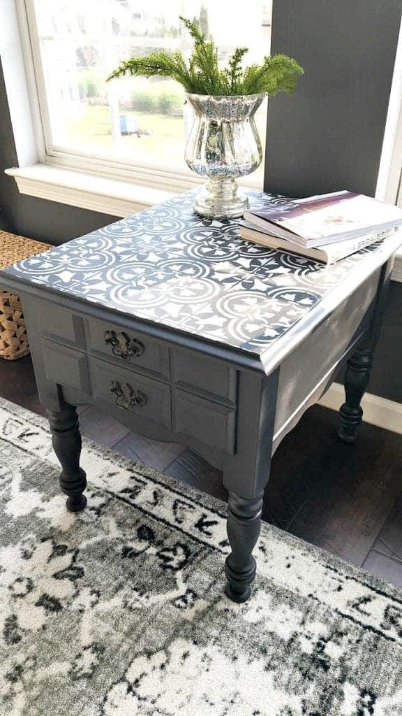 side table cutting edge stencil 3