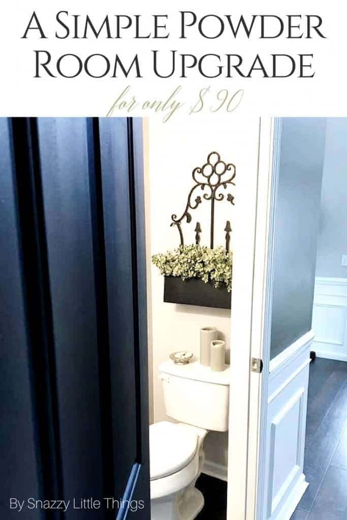 $90 Powder Room Upgrade