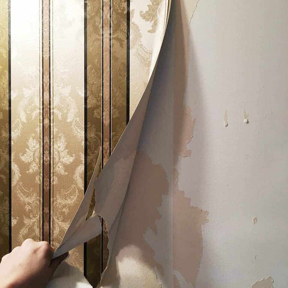 Removing Old Wallpaper with a Steamer and Fabric Softener