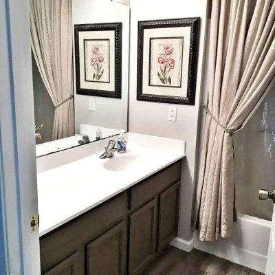Vinyl Plank Flooring Bathroom Makeover